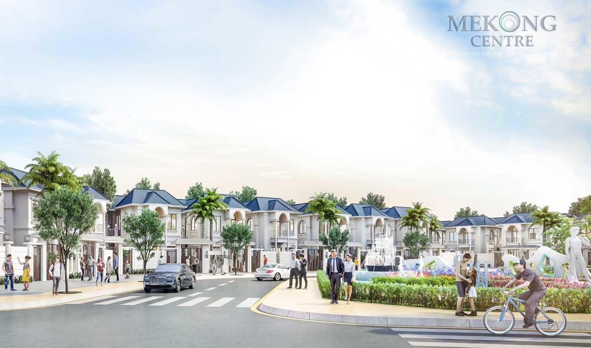 Khu Biệt thự Đơn lập Triệu Phú Gia Dự án Khu đô thị 5A Mekong Centre Sóc Trăng
