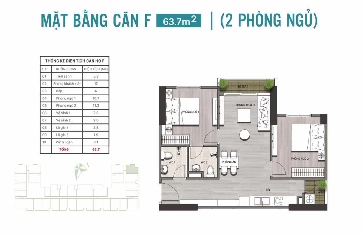 mat bang can ho 637m2 2 phong ngu - DỰ ÁN CĂN HỘ ECOLIFE RIVERSIDE QUY NHƠN