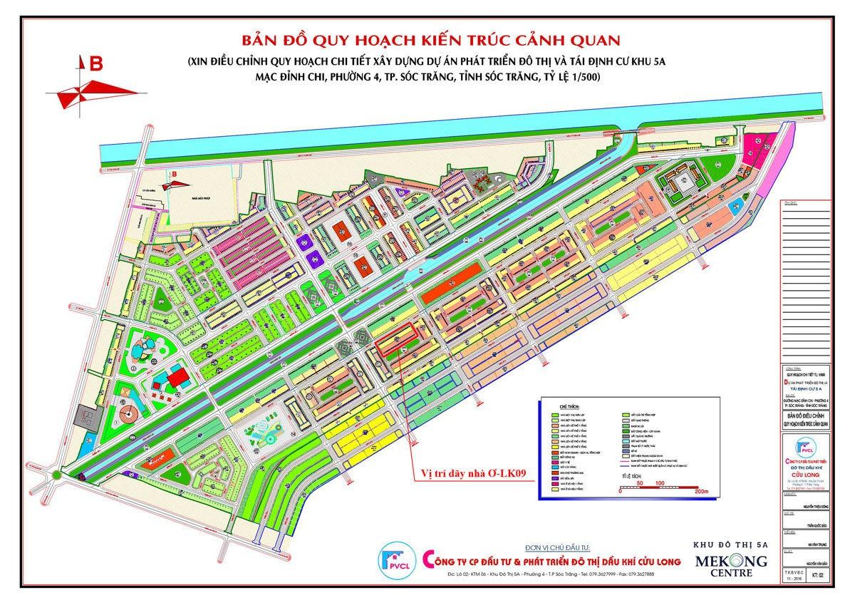 Mặt bằng Dự án Khu đô thị 5A Mekong Centre Sóc Trăng