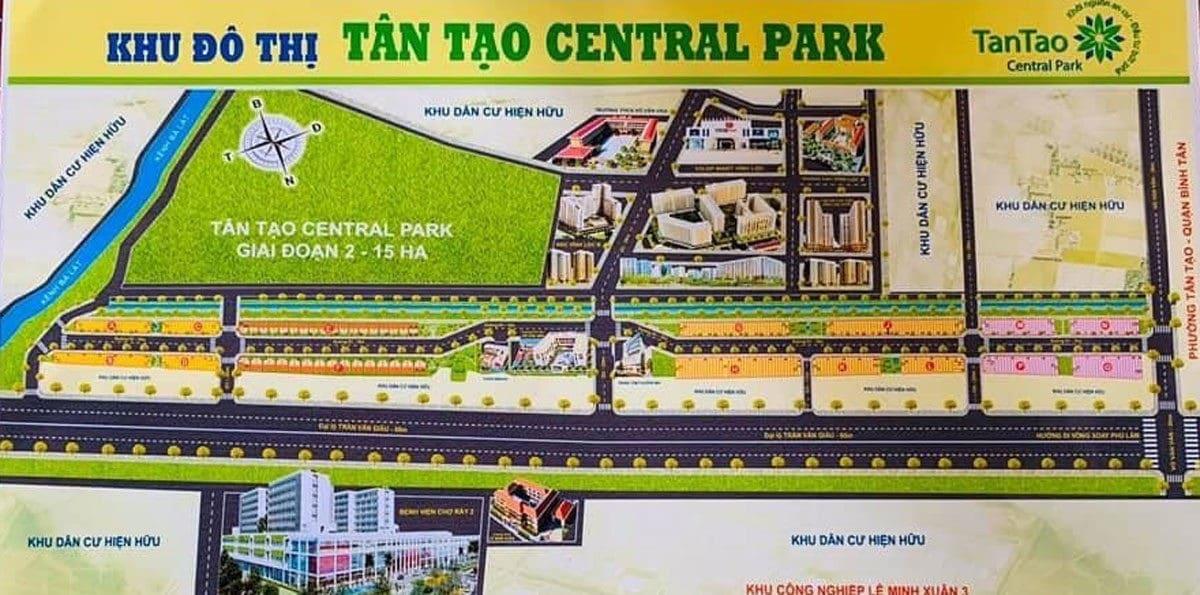 Mặt bằng Dự án Tân Tạo Central Park Bình Tân