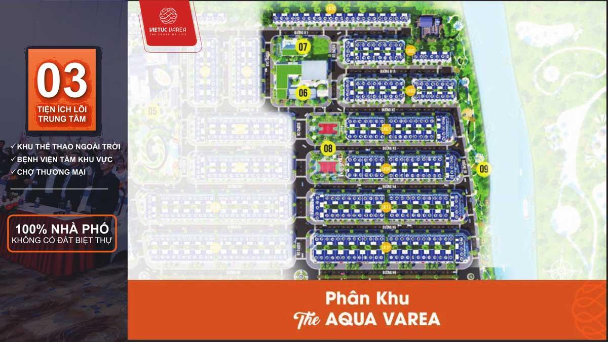 mat bang phan khu the aqua varea - DỰ ÁN VIETUC VAREA BẾN LỨC LONG AN