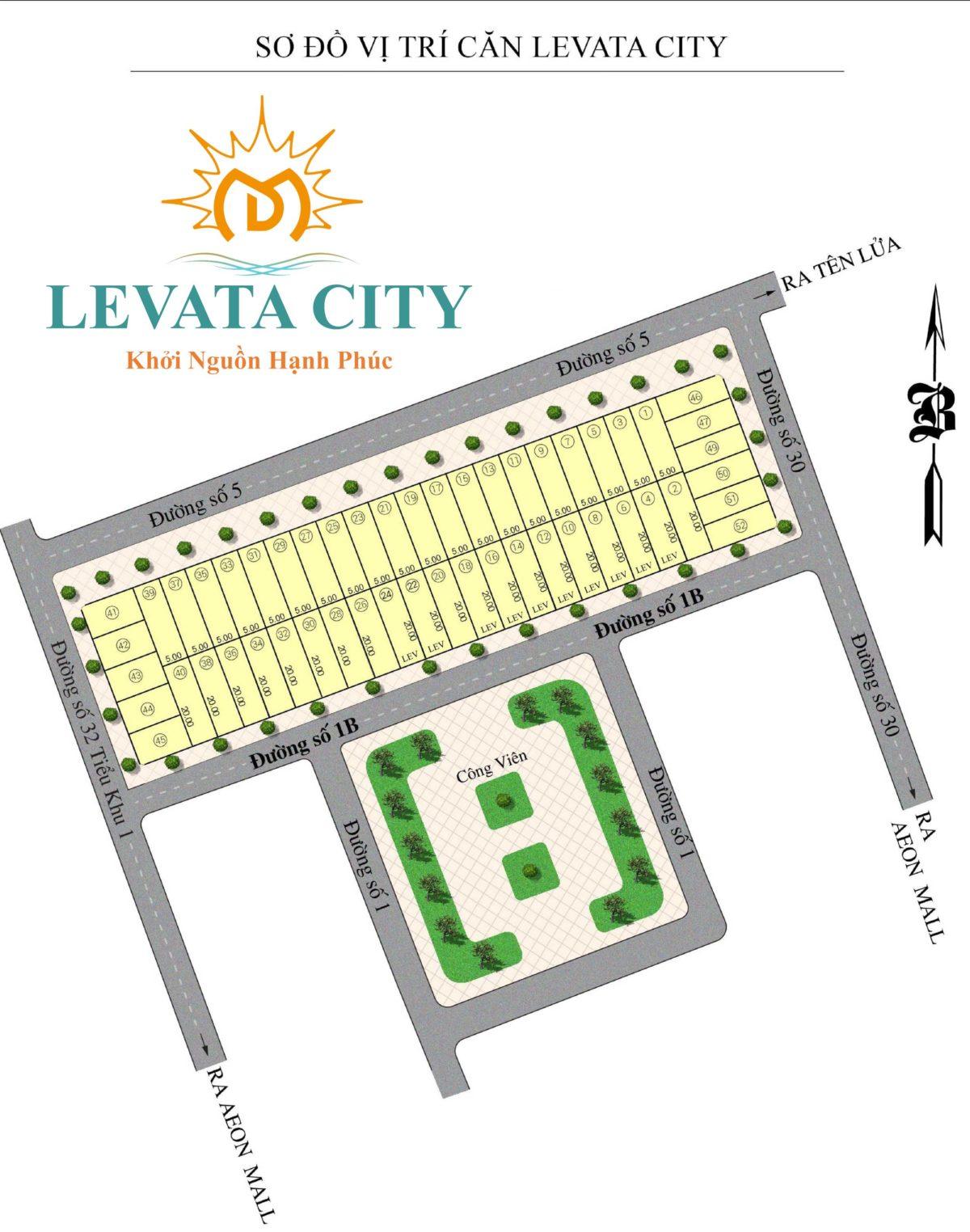 Mặt bằng Phân lô Dự án Nhà Phố Levata City Bình Tân
