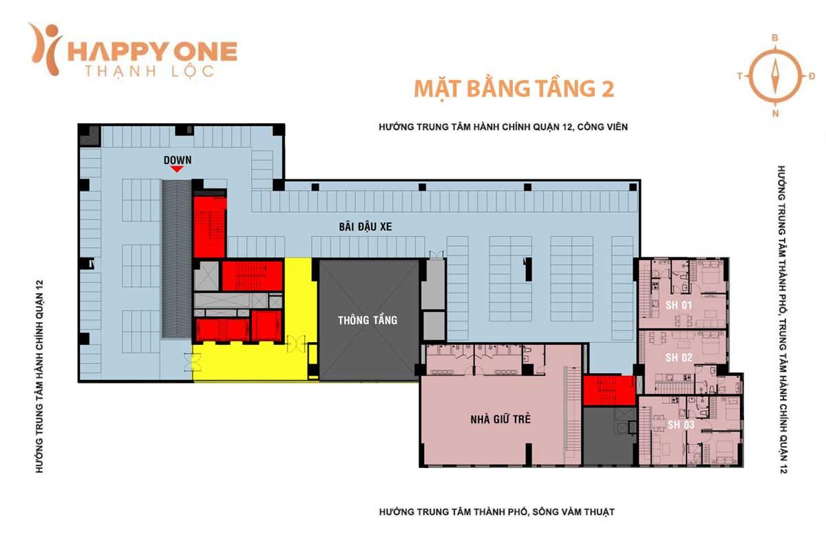 mat bang tang 2 du an can ho happy one thanh loc quan 12 - HAPPY ONE PREMIER THẠNH LỘC QUẬN 12