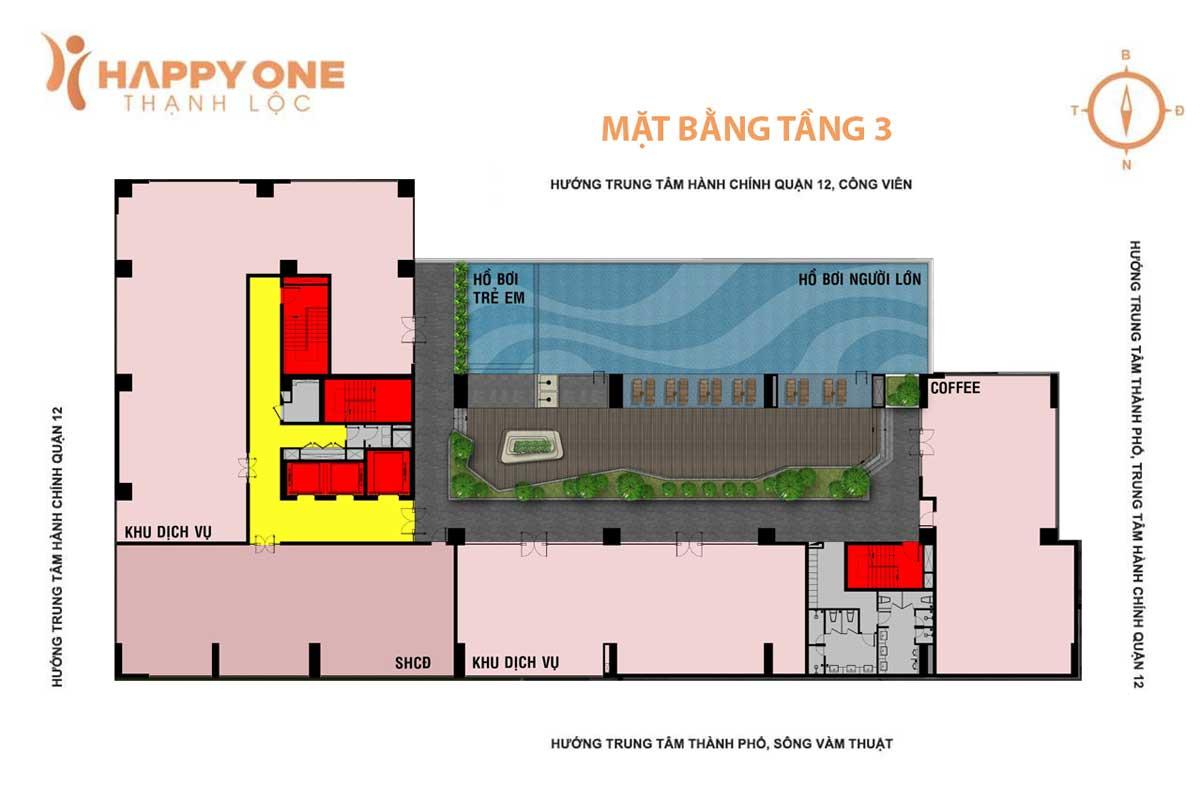 mat bang tang 3 du an can ho happy one thanh loc quan 12 - HAPPY ONE PREMIER THẠNH LỘC QUẬN 12