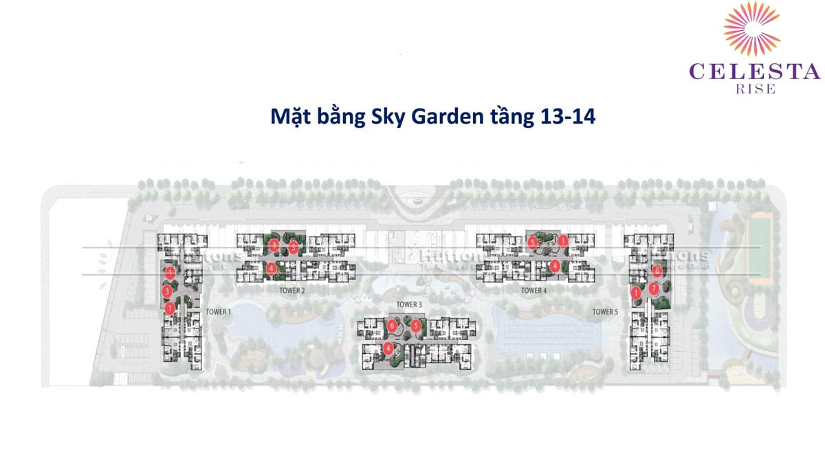 mat bang tang sky garden tang 13 14 du an can ho celesta rise - DỰ ÁN CĂN HỘ CELESTA RISE KEPPEL LAND NHÀ BÈ