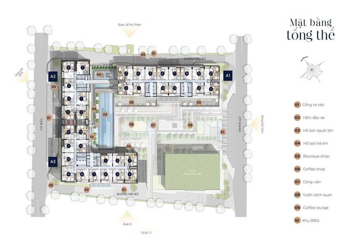 Mặt bằng tổng thể Dự án Căn hộ Soho Residence Quận 1