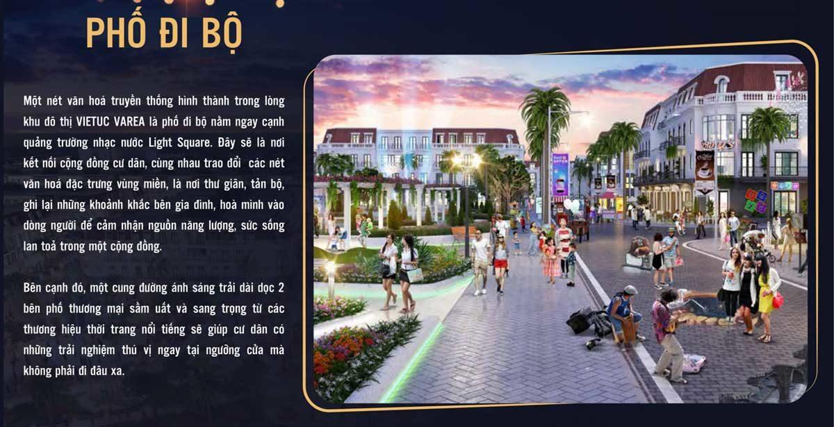 Phố đi bộ Dự án Khu dân cư Việt Úc Varea Bến Lức Long An