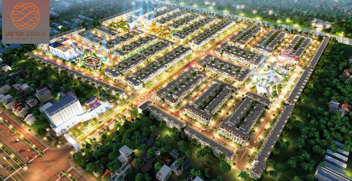 Phối cảnh Dự án Khu đô thị Việt Úc Varea Long An về Đêm