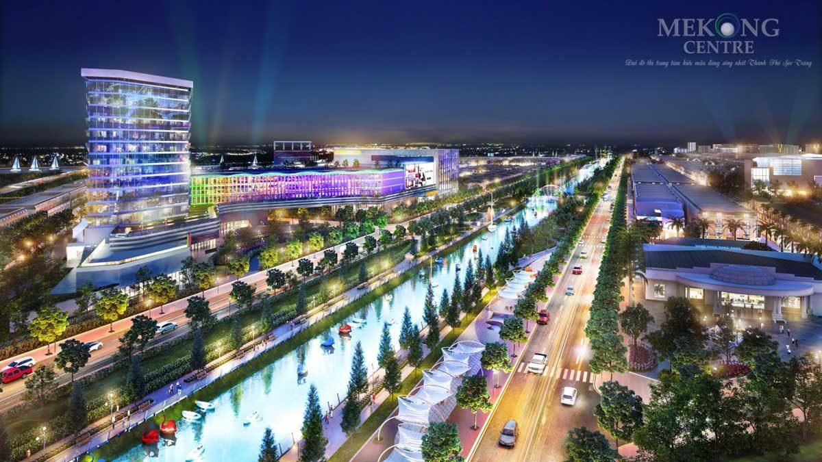 Phối cảnh Khu trung tâm thương mại Dự án Mekong Centre Sóc Trăng