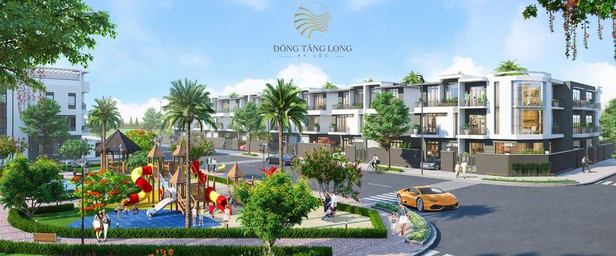 Phối cảnh Nhà phố Dự án Đông Tăng Long An Lộc Quận 9