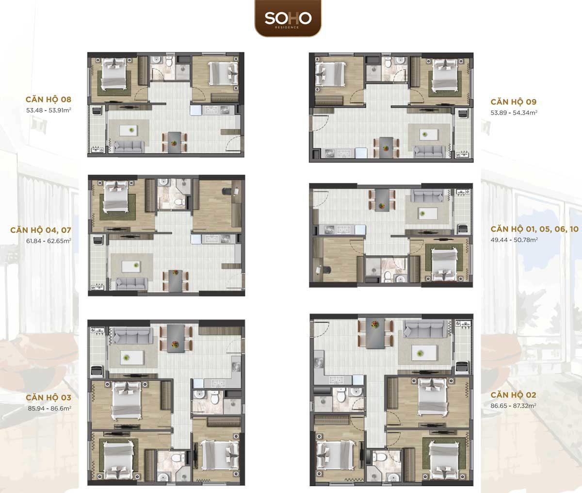 Thiết kế Căn hộ Soho Residence Novaland Cô Giang Quận 1