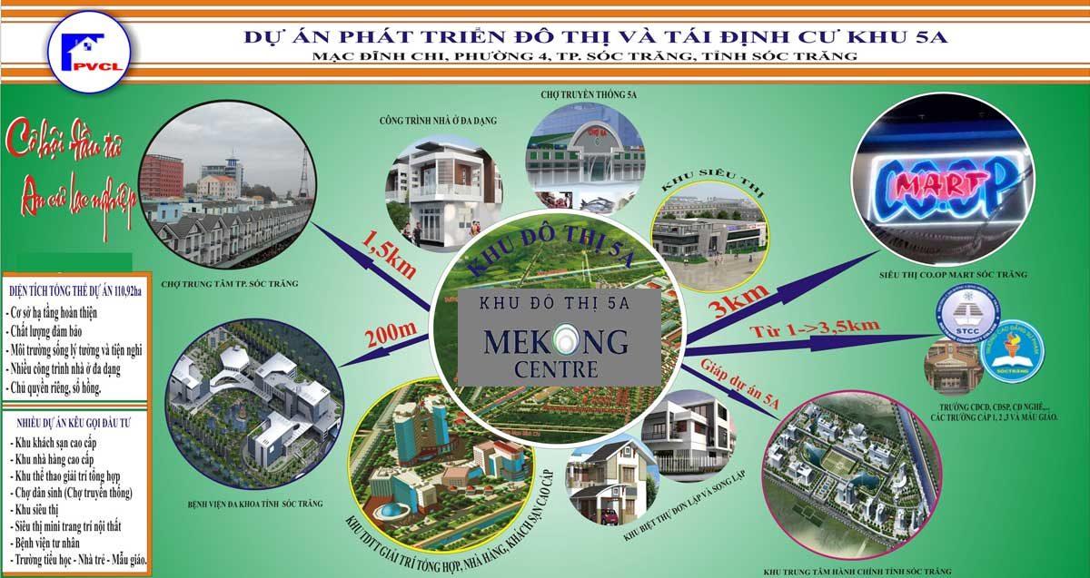 Tiện ích Dự án Khu đô thị 5A Mekong Centre Sóc Trăng