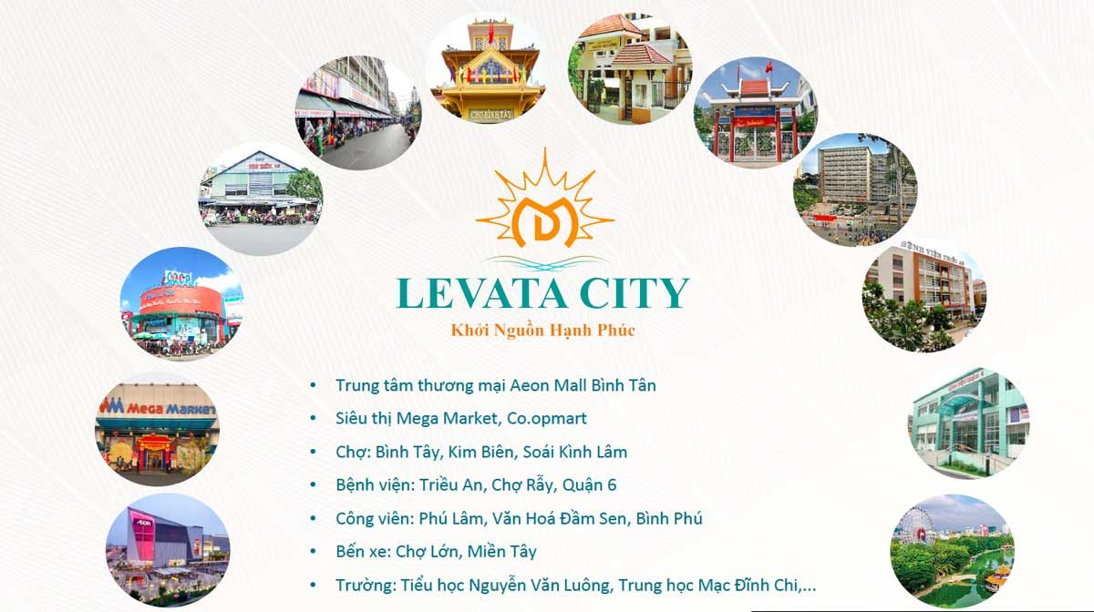 Tiện ích ngoại khu Dự án Nhà Phố Levata City Bình Tân