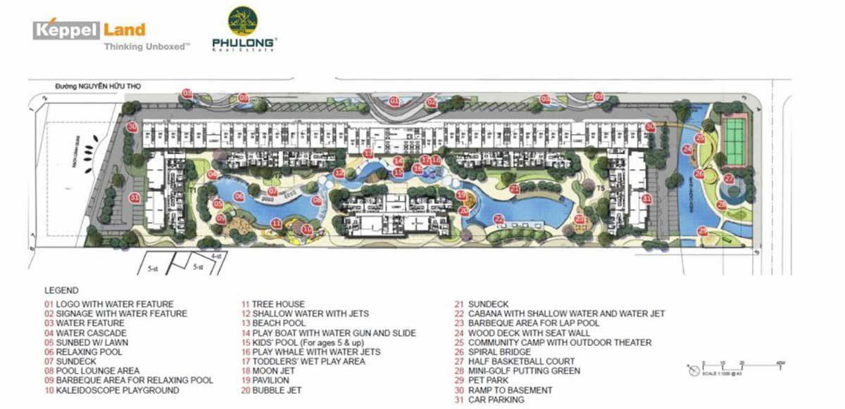 Tiện ích nội khu Dự án Căn hộ Chung cư Celesta Keppel Land