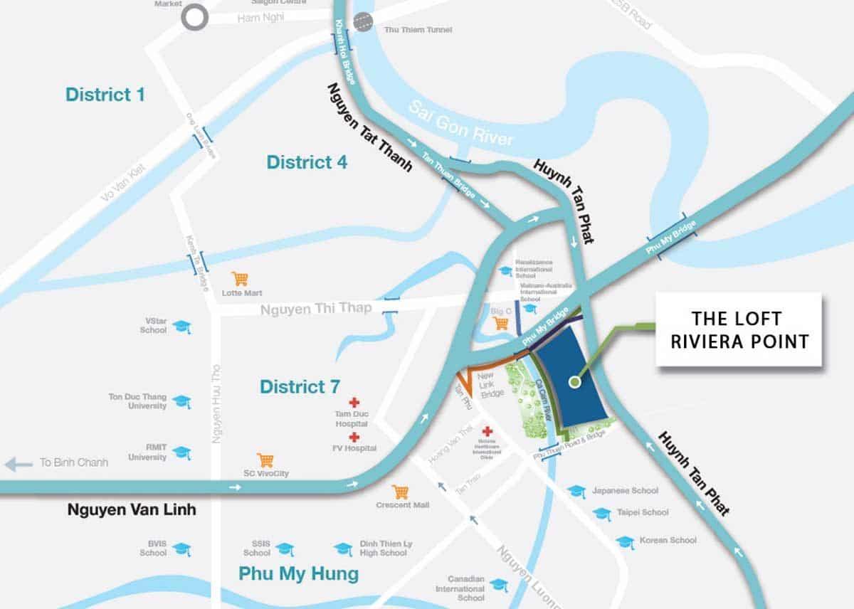 vi tri can ho the loft riviera point - DỰ ÁN CĂN HỘ THE LOFT RIVIERA POINT QUẬN 7