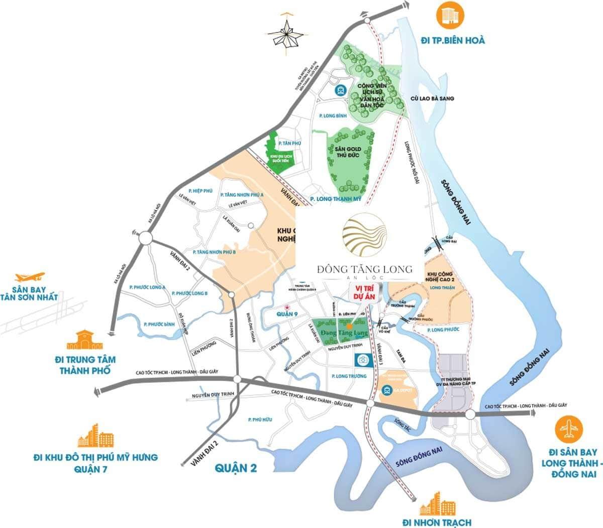 Vị trí Dự án Đông Tăng Long An Lộc Quận 9