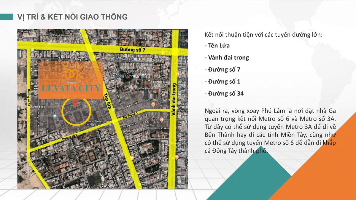 Vị trí Dự án Nhà Phố Levata City Bình Tân