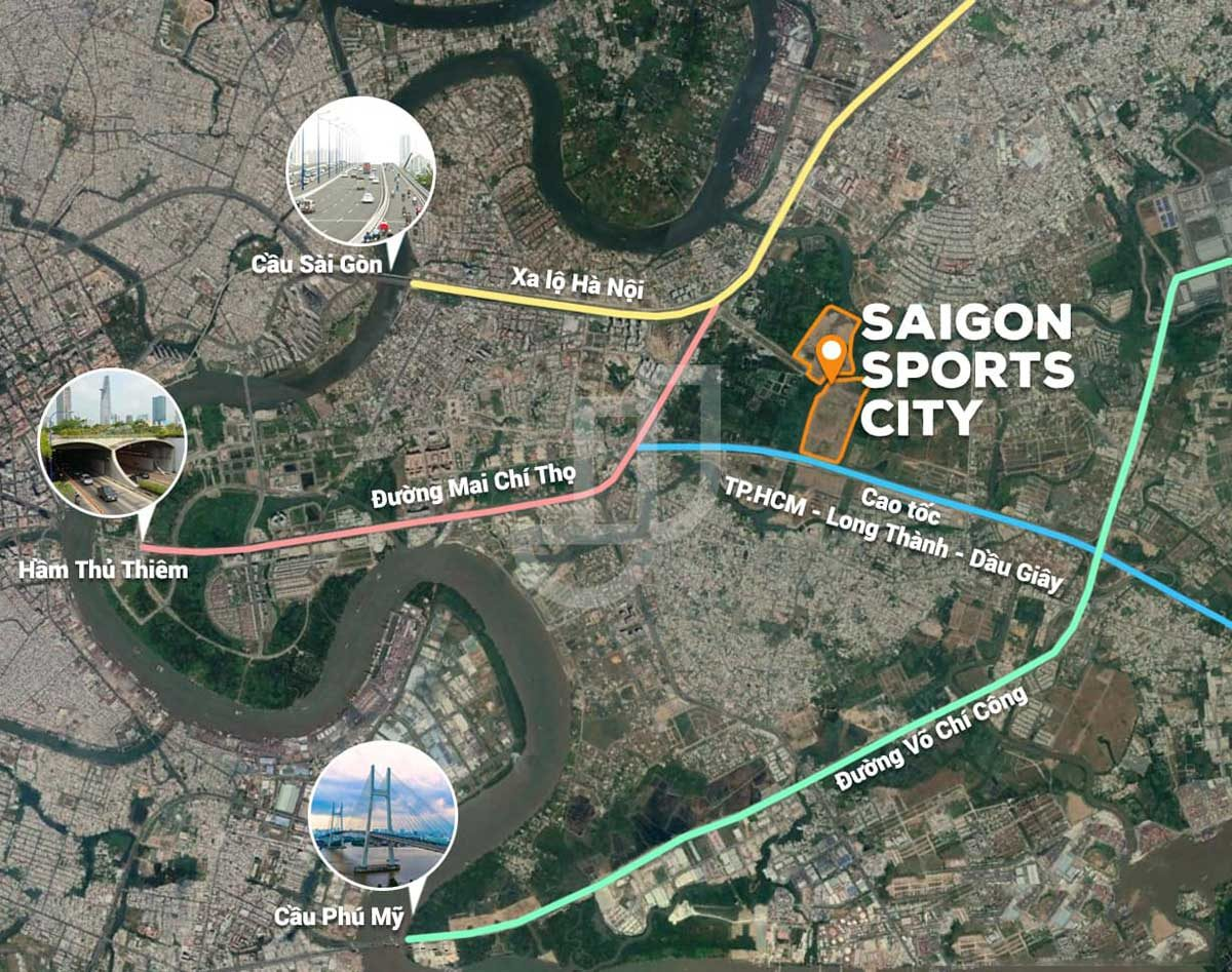 vi tri du an saigon sports city quan 2 - SAIGON SPORTS CITY QUẬN 2