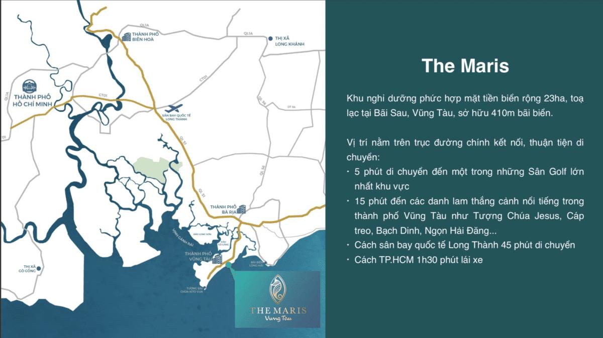 Vị trí Dự án Biệt thự Căn hộ Condotel The Maris Vũng Tàu