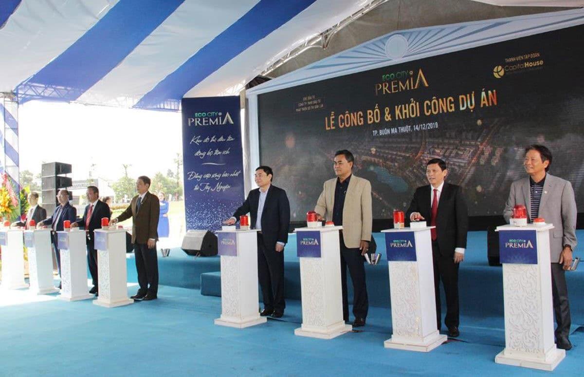Bấm nút khởi công Dự án Ecocity Premia - DỰ ÁN KHU ĐÔ THỊ ECO CITY PREMIA BUÔN MA THUỘT