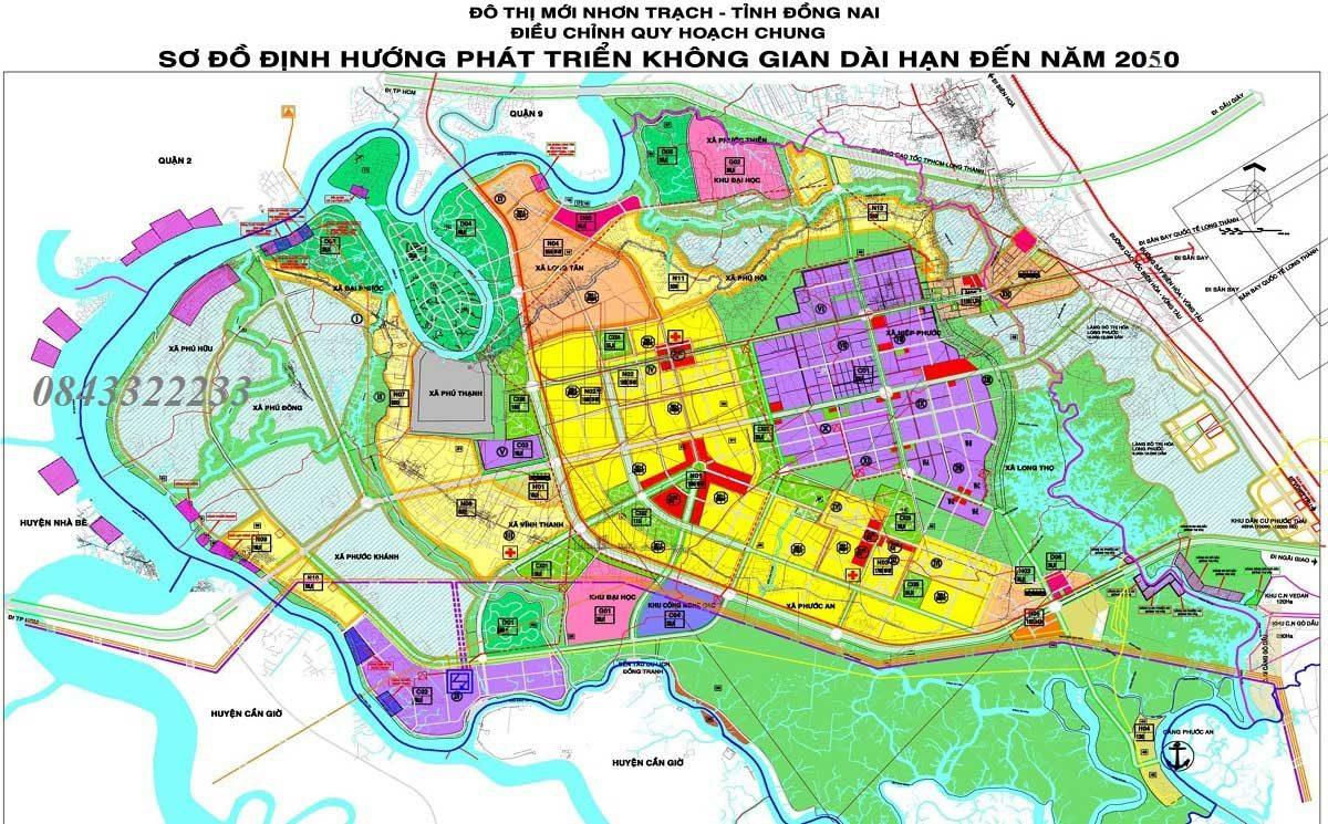 Ban Do Quy hoach Huyen Nhon Trach Dong Nai - THÔNG TIN QUY HOẠCH NHƠN TRẠCH – ĐỒNG NAI