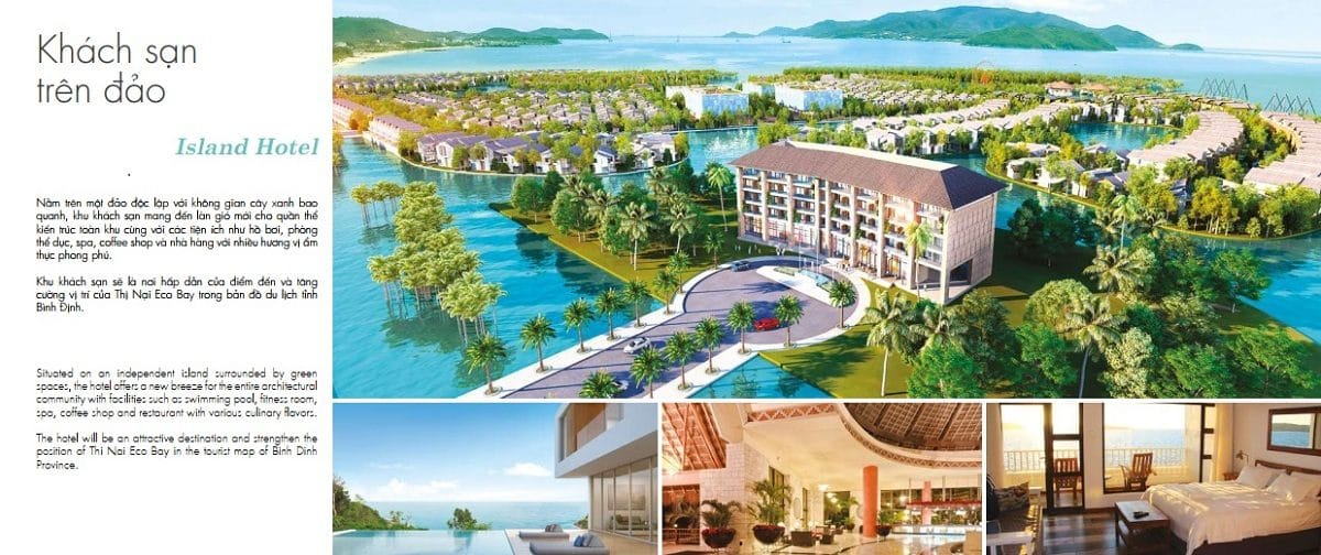 Khách sạn 5 sao nằm ngay trung tâm Thị Nại Eco Bay - DỰ ÁN KHU DU LỊCH THỊ NẠI ECO BAY QUY NHƠN