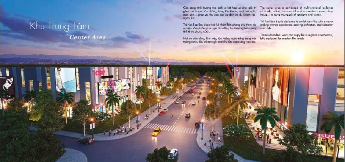 Khu trung tâm mua sắm Thị Nại Eco Bay - DỰ ÁN KHU DU LỊCH THỊ NẠI ECO BAY QUY NHƠN
