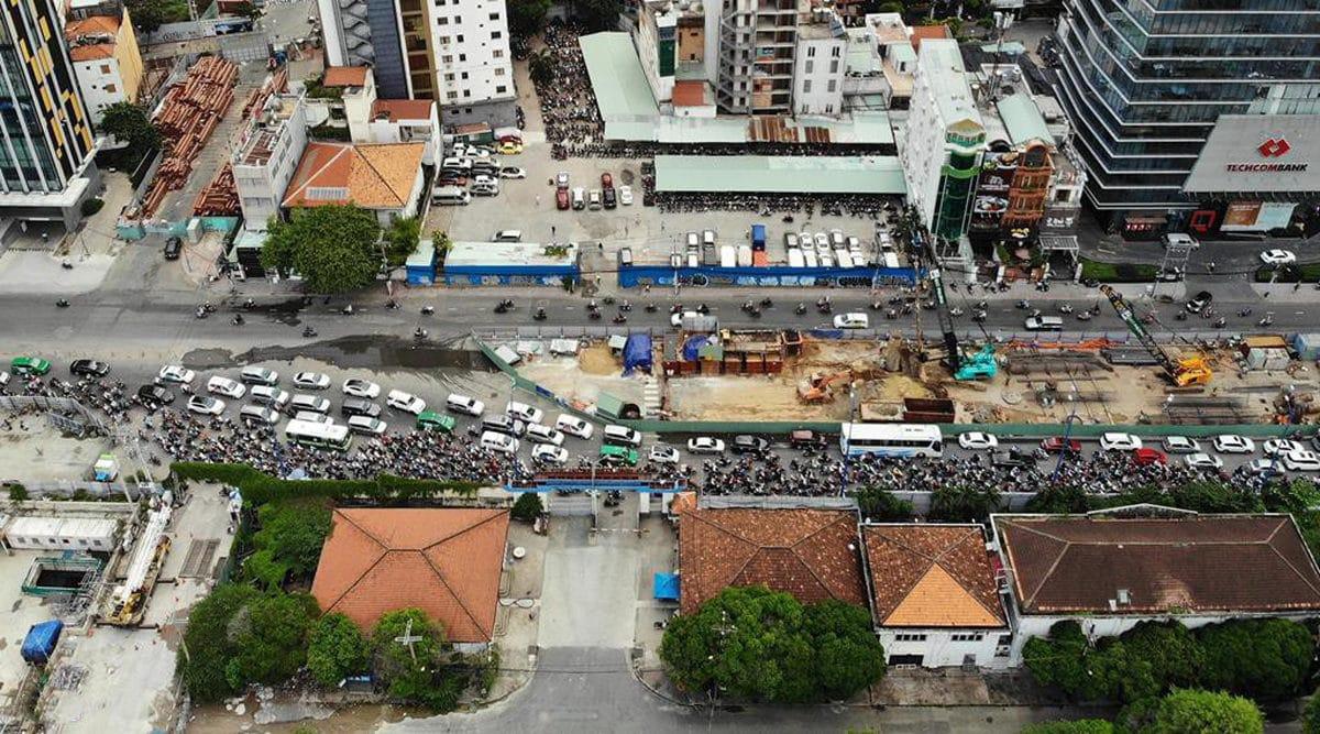 Nút giao Tôn Đức Thắng Đinh Tiên Hoàng Nguyễn Hữu Cảnh đang trong tình trạng quá tải - Cập nhật Tiến độ Thi công Cầu Thủ Thiêm 2 mới Nhất năm 2020