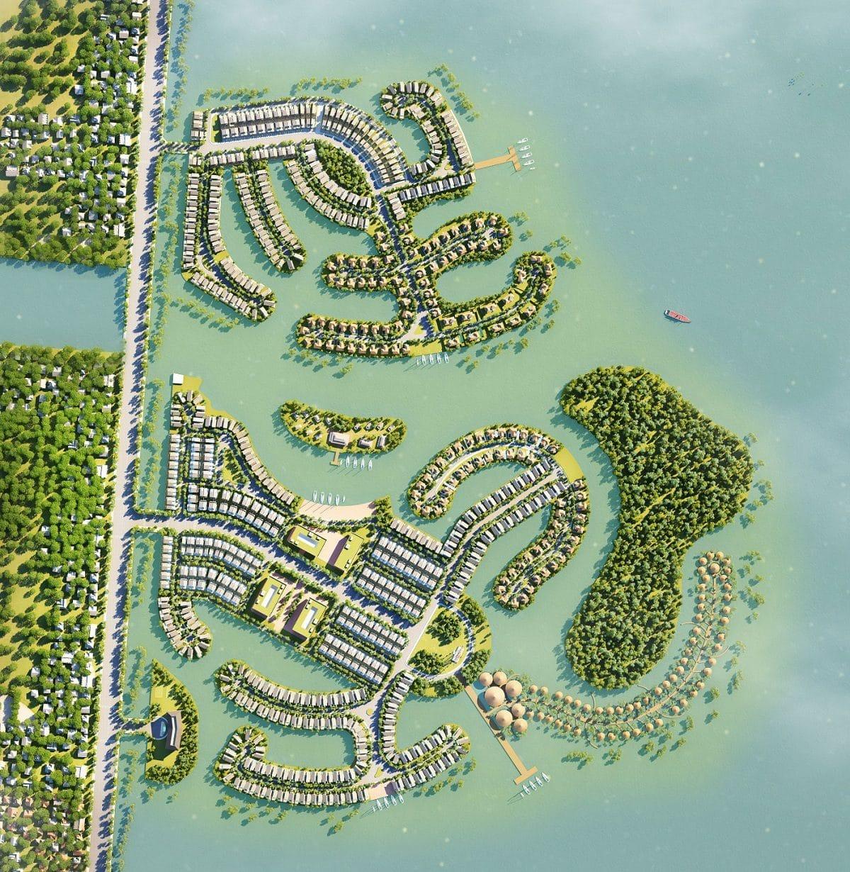 Tổng thể biệt thự Thị Nại Eco Bay  - DỰ ÁN KHU DU LỊCH THỊ NẠI ECO BAY QUY NHƠN