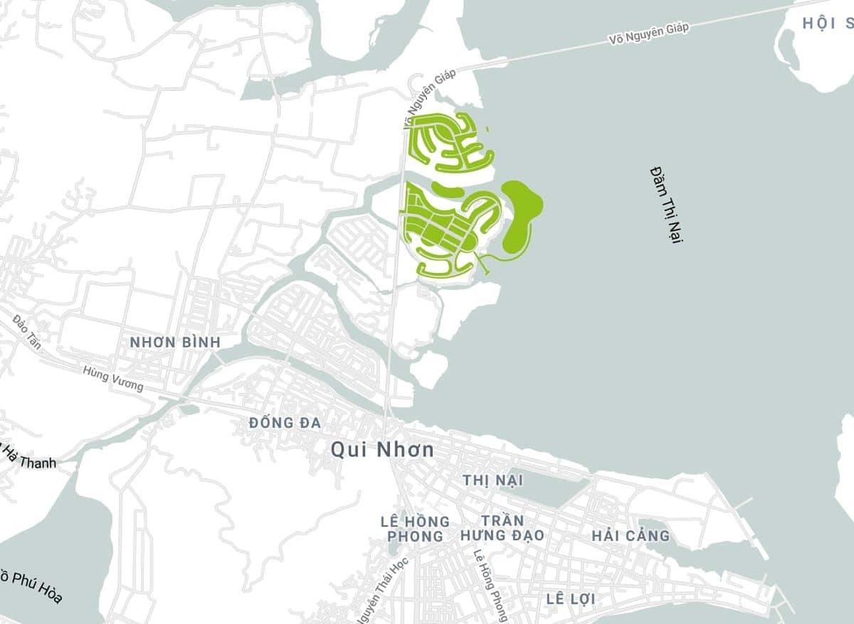 Vị trí Thị Nài Eco Bay - DỰ ÁN KHU DU LỊCH THỊ NẠI ECO BAY QUY NHƠN