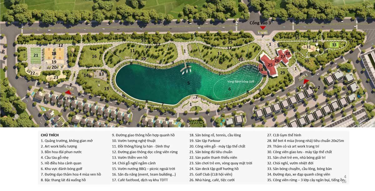 cac tien ich tai khu cong vien ho dieu hoa premia lake park - DỰ ÁN KHU ĐÔ THỊ ECO CITY PREMIA BUÔN MA THUỘT