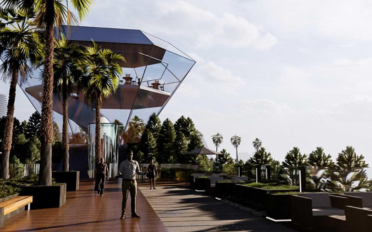 Đài ngắm cảnh trên sân thượng Dự án Sunshine Horizon