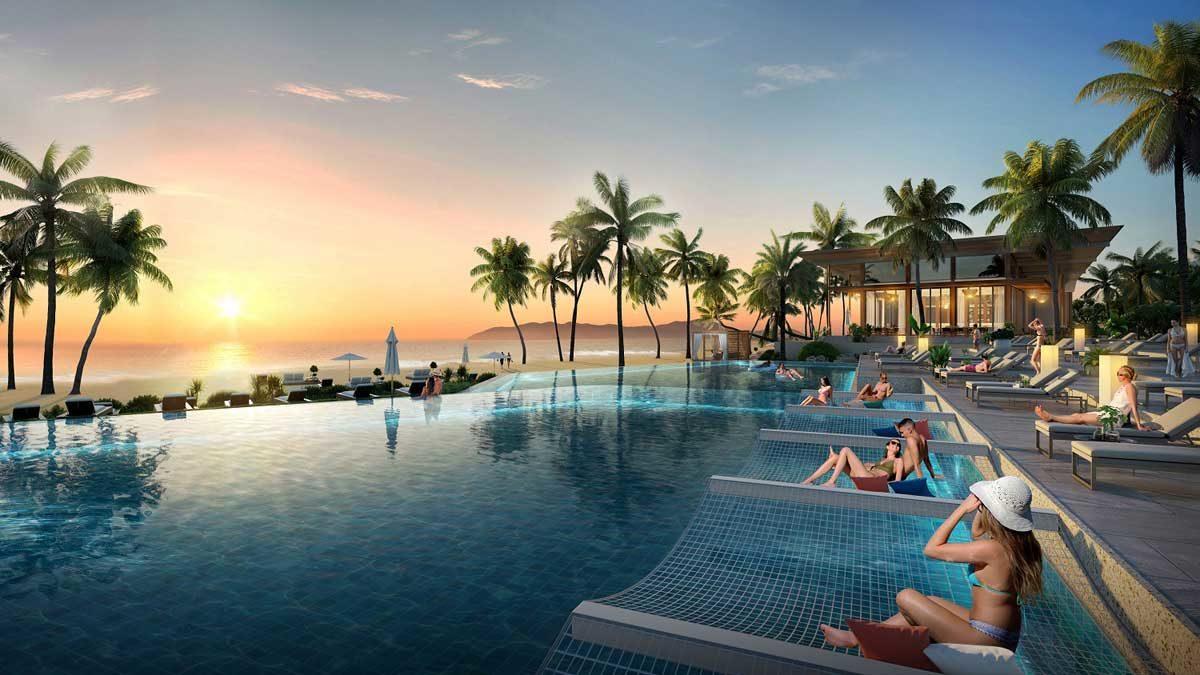 Hồ bơi Dự án Le Meridien Đà Nẵng Resort & Spa