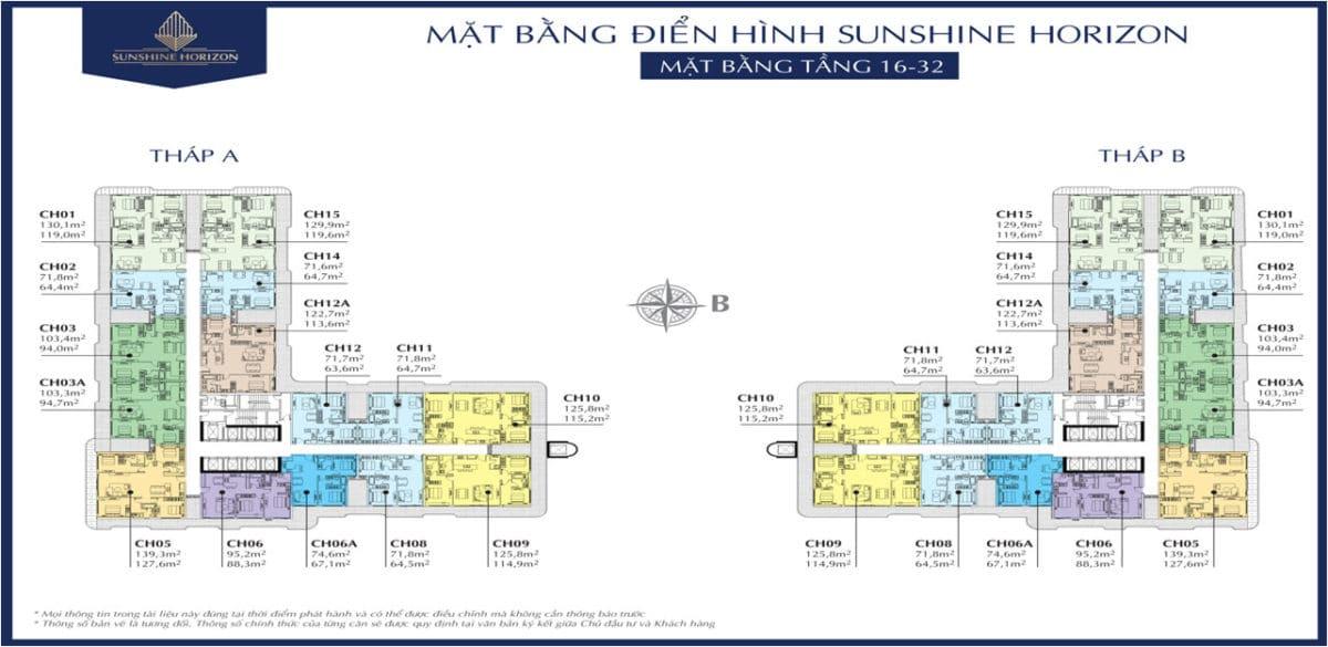 mat bang bang tang 16 toi 32 du an can ho sunshine horizon - DỰ ÁN CĂN HỘ SUNSHINE HORIZON QUẬN 4