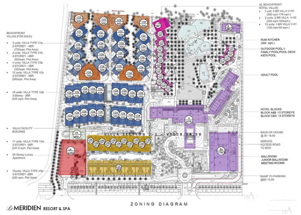Mặt bằng Dự án Le Meridien Đà Nẵng Resort & Spa