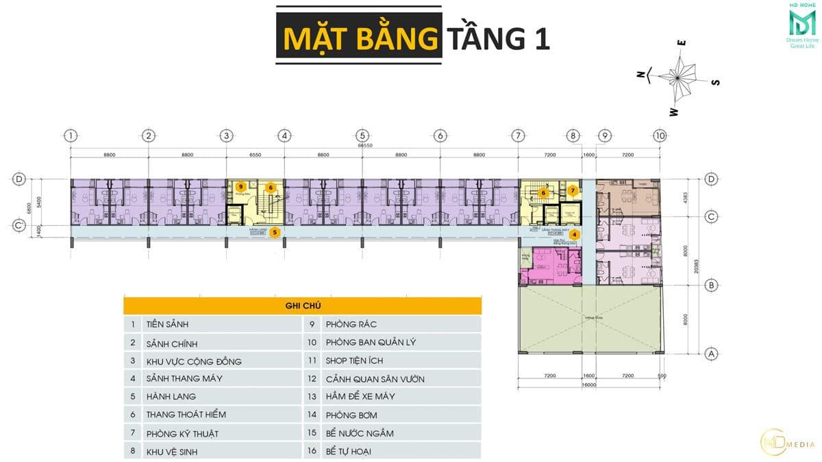mat bang tang 1 du an can ho md home an lac - MD HOME AN LẠC - 35 BÙI TƯ TOÀN BÌNH TÂN