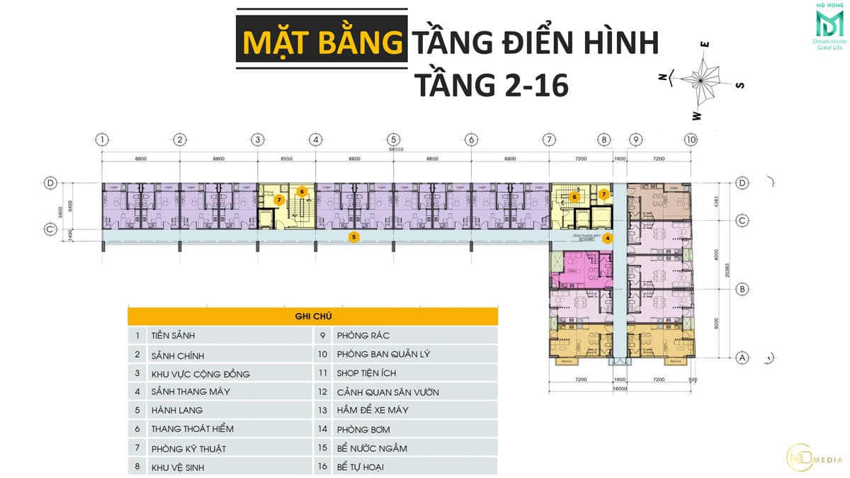 mat bang tang 2 16 du an can ho md home an lac - MD HOME AN LẠC - 35 BÙI TƯ TOÀN BÌNH TÂN