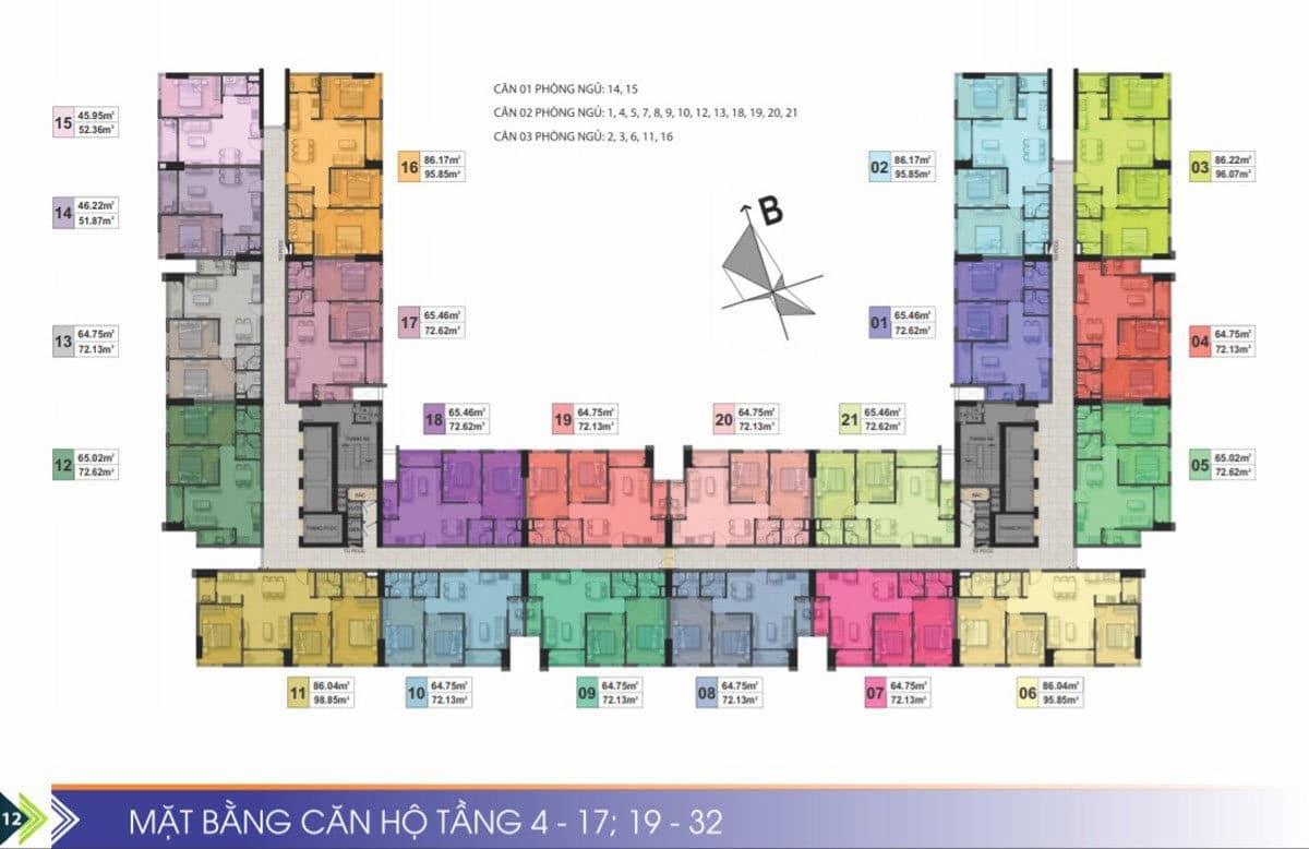 mat bang tang 4 1719 32 du an can ho phu tai residence - CĂN HỘ CHUNG CƯ PHÚ TÀI RESIDENCE QUY NHƠN