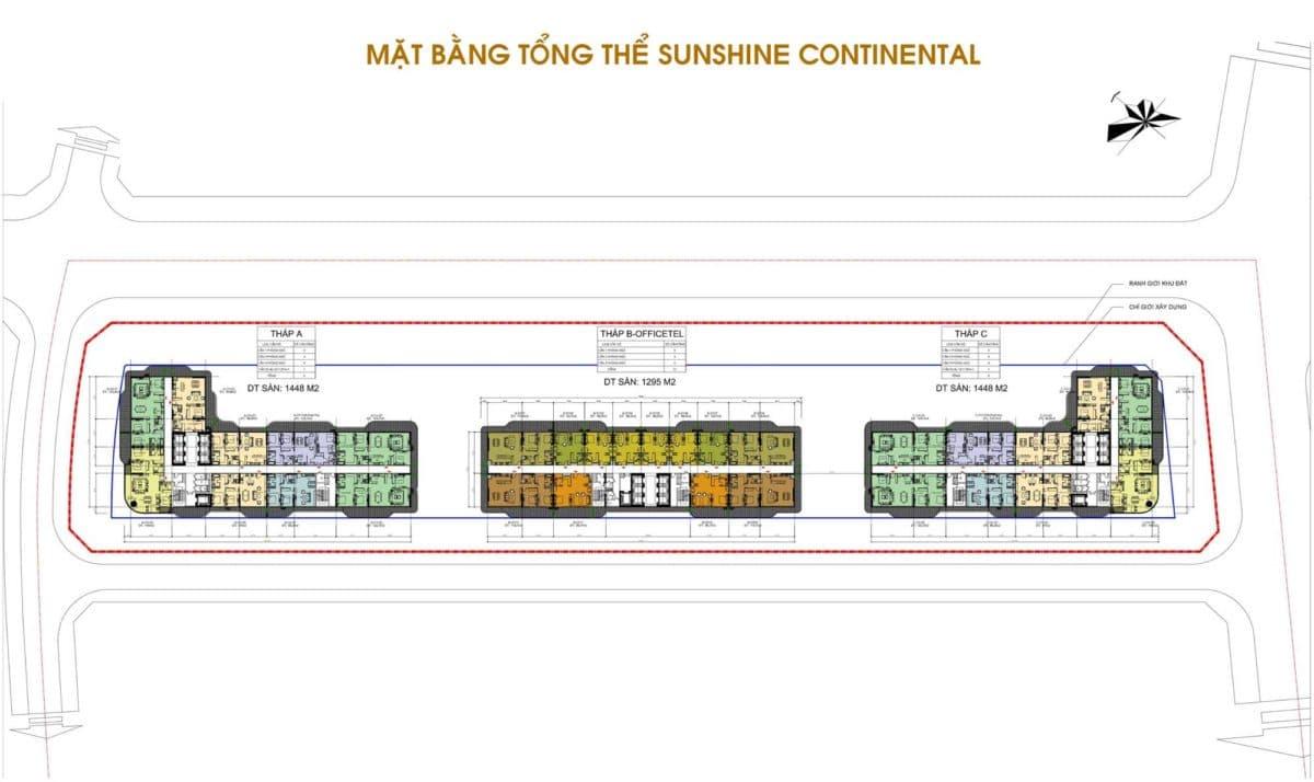 Mặt bằng tổng thể Dự án Sunshine Continental Quận 10