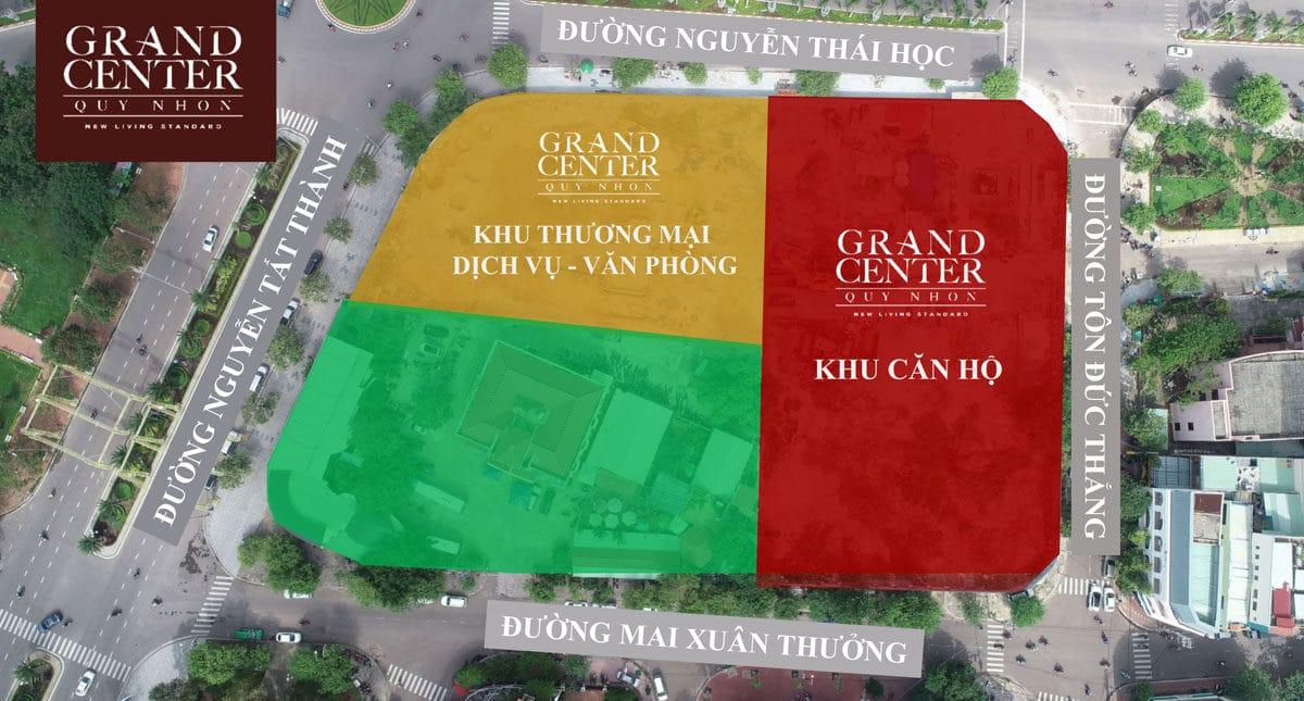Các Phân khu Dự án Grand Center Quy Nhơn