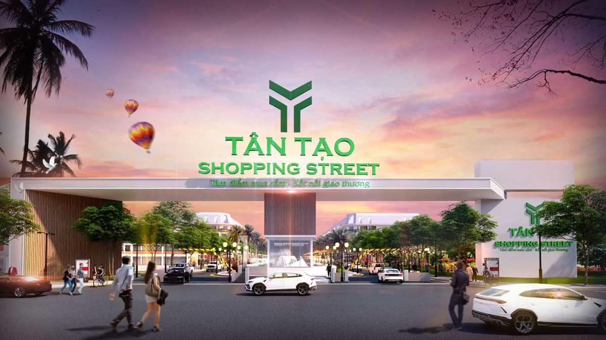 tan tao shopping street - DỰ ÁN TÂN TẠO SHOPPING STREET LONG AN