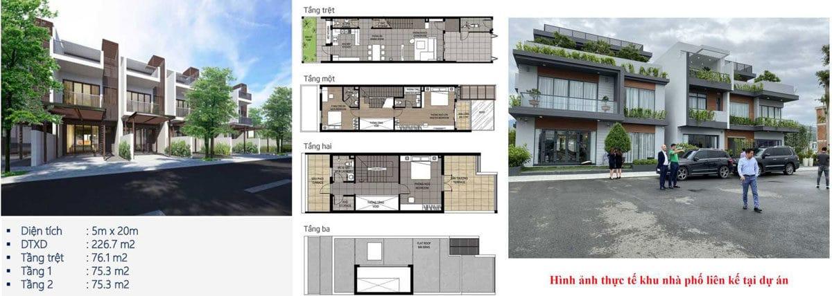 thiết kế nhà phố dự án kvg the capella nha trang - DỰ ÁN KVG THE CAPELLA GARDEN NHA TRANG