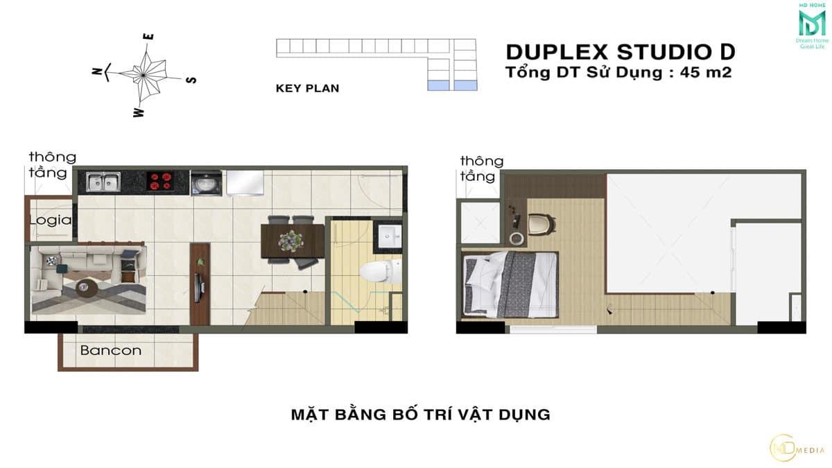 thiet ke can ho duplex studio D MD Home An Lac - MD HOME AN LẠC - 35 BÙI TƯ TOÀN BÌNH TÂN