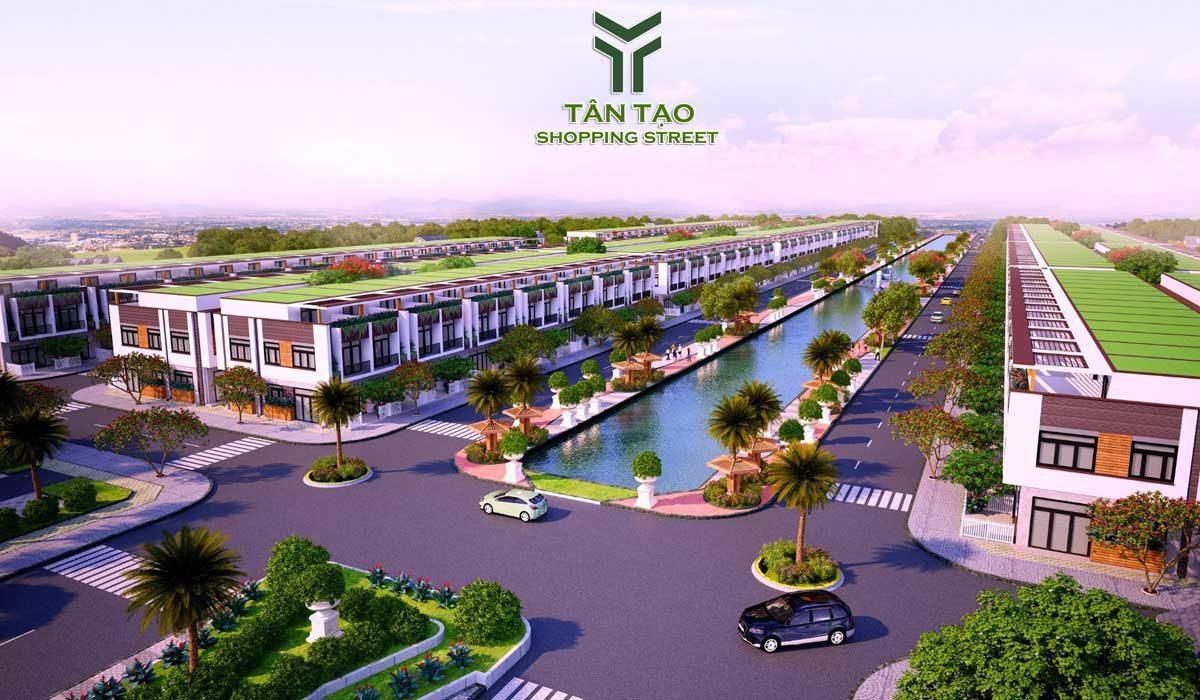 truc chinh du an tan tao shopping street - DỰ ÁN TÂN TẠO SHOPPING STREET LONG AN