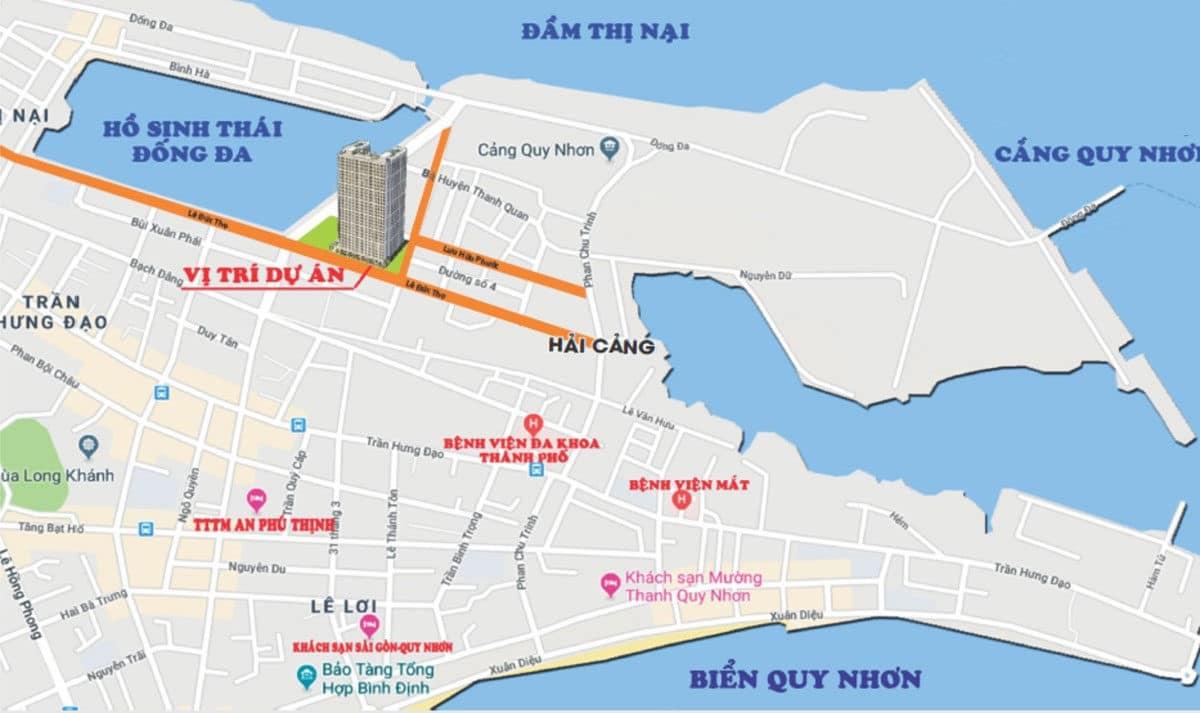 vi tri du an can ho Phu Tai Residence - CĂN HỘ CHUNG CƯ PHÚ TÀI RESIDENCE QUY NHƠN