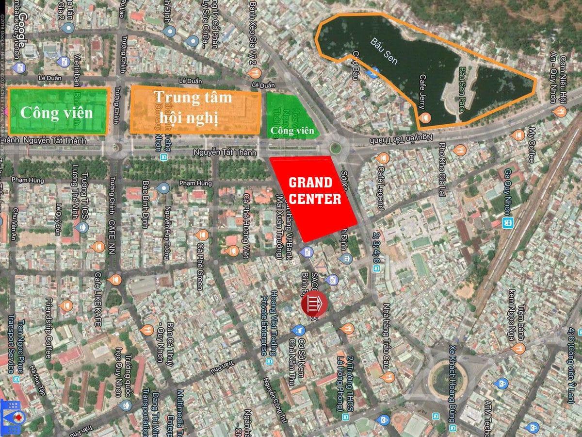 Vị trí Dự án Căn hộ Grand Center Quy Nhơn trên Google Maps