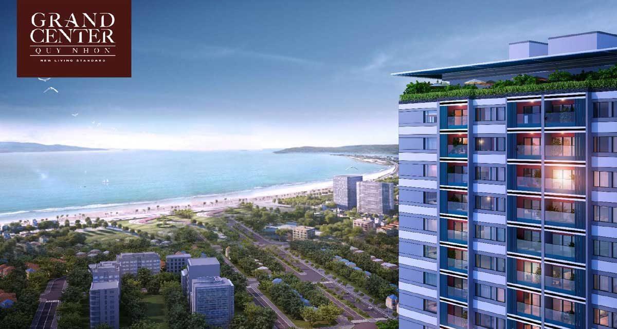 View Biển từ Căn hộ Grand Center Quy Nhơn