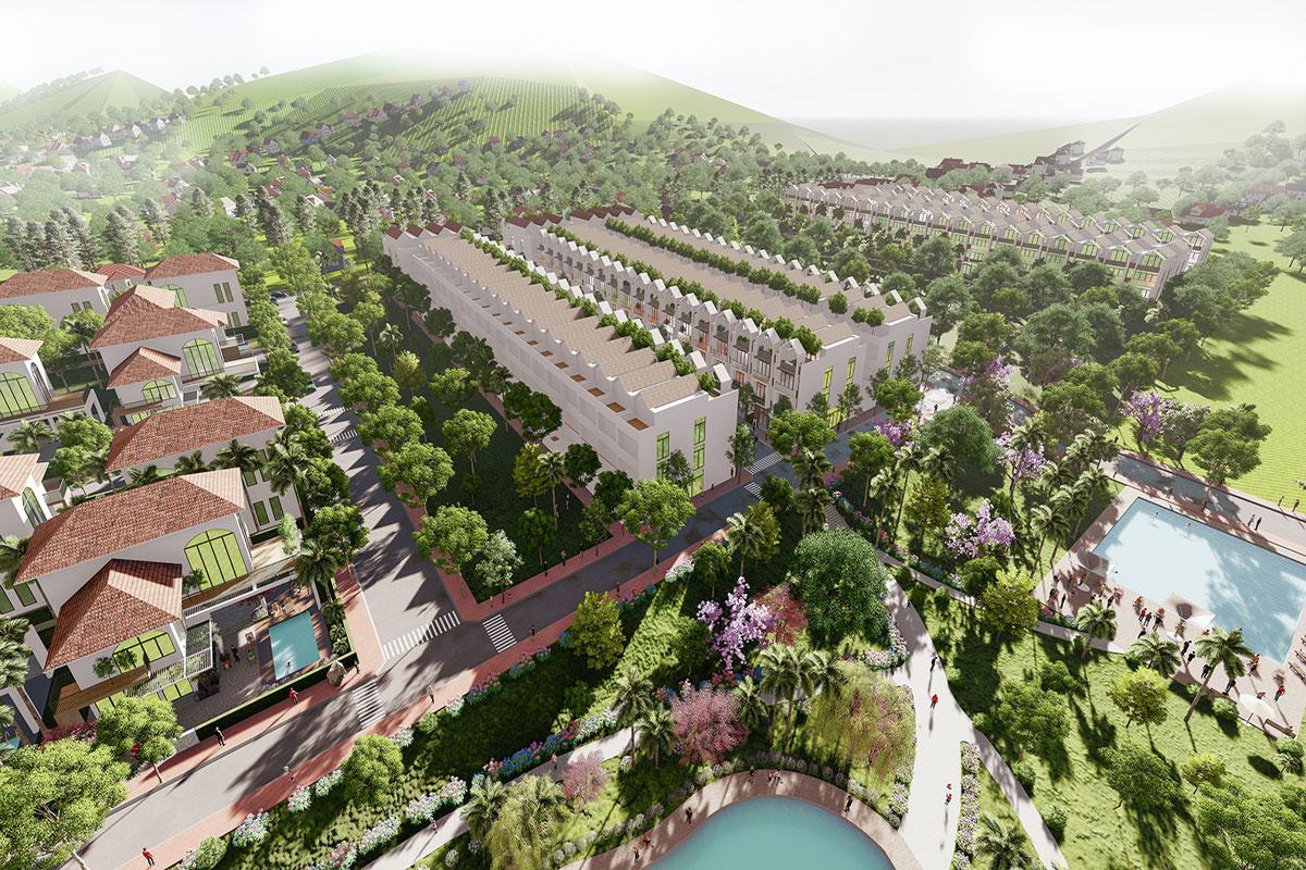 Phối cảnh Dự án Bảo Lộc Park Hill