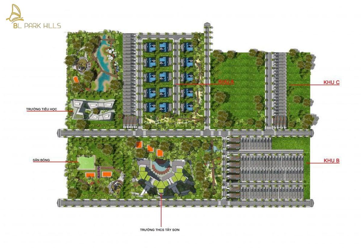 mat bang tong the du an bao loc park hill - BẢO LỘC PARK HILLS DỰ ÁN ĐẤT NỀN NHÀ PHỐ BIỆT THỰ