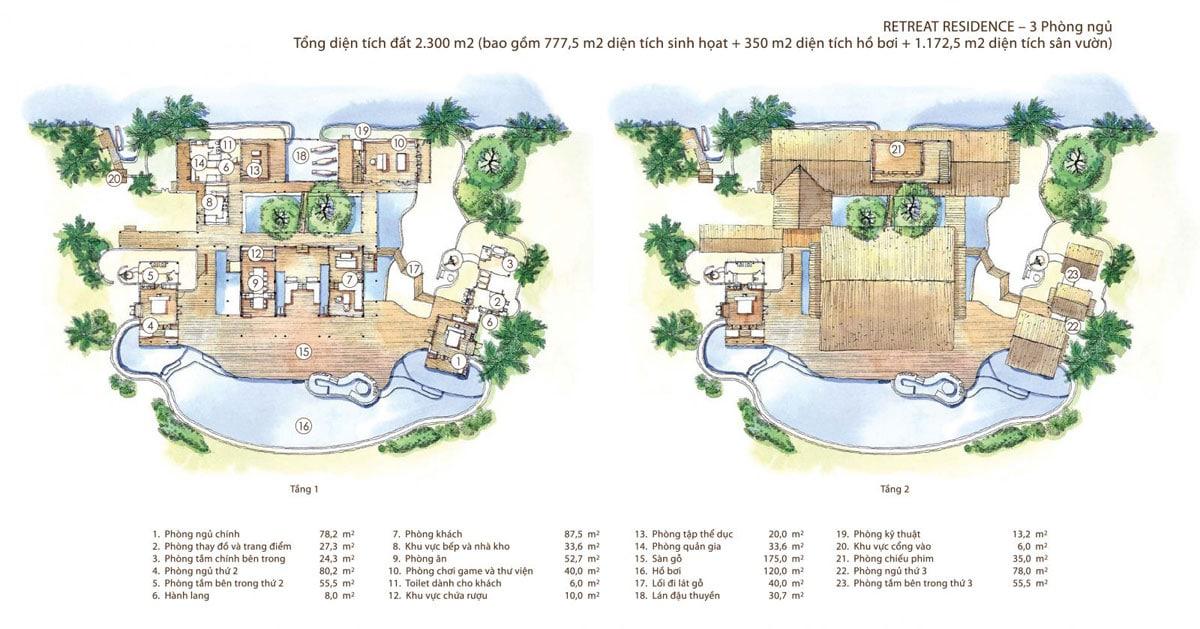thiet ke biet thu pool villa 2300m2 six senses saigon river - DỰ ÁN SIX SENSES SAIGON RIVER NHƠN TRẠCH ĐỒNG NAI